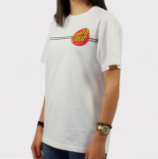 Camiseta Santa Cruz Juvenil Classic Dot 2 Branco