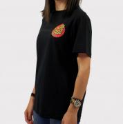 Camiseta Santa Cruz Juvenil Classic Dot 2 Preto