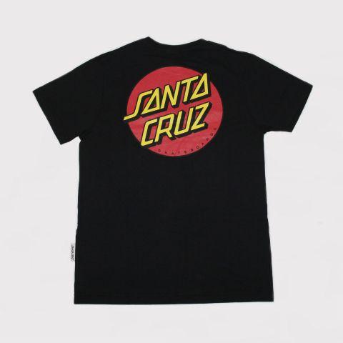 Camiseta Santa Cruz Juvenil Classic Dot 2 - Preto