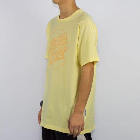 Camiseta Santa Cruz Opus Dot - Amarelo Claro