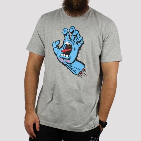 Camiseta Santa Cruz Screaming Hand - Cinza Mescla