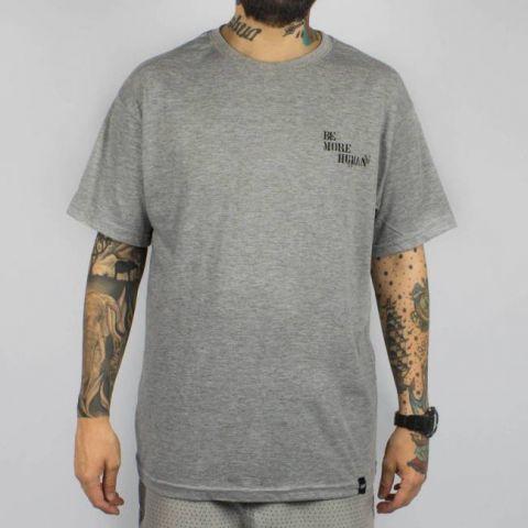 Camiseta Save Be More Human - Cinza Mescla