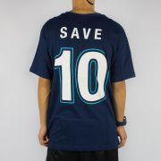Camiseta Save Brasão Skateboard Azul Marinho