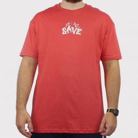 Camiseta Save Fire - Salmão