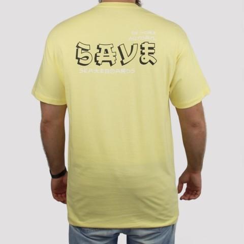 Camiseta Save Japan - Amarelo