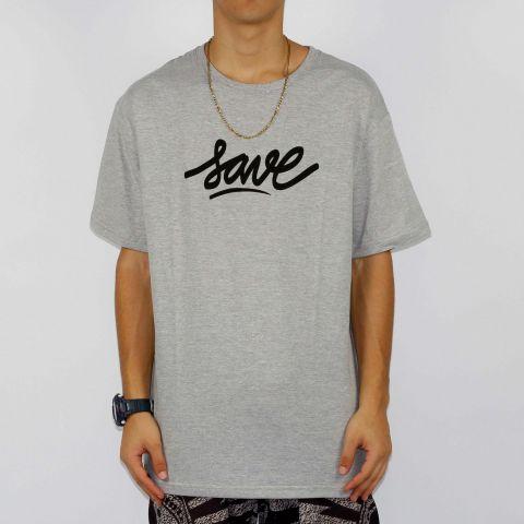 Camiseta Save Logo - Cinza Mescla