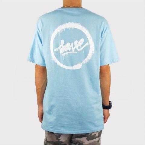 Camiseta Save Logo Forc - Azul Bebê/Branco
