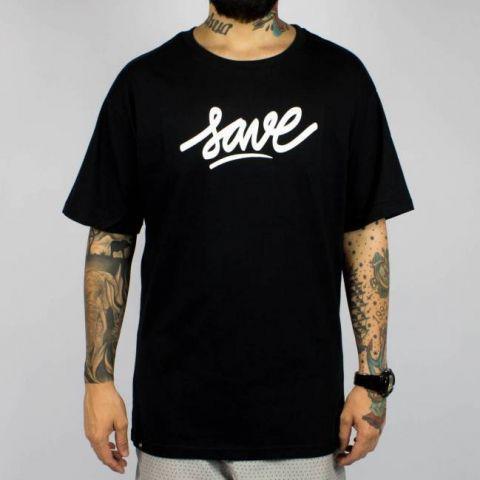 Camiseta Save Logo - Preta