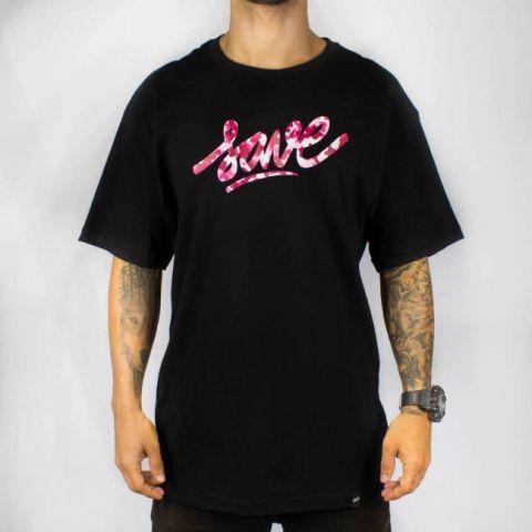 Camiseta Save Logo - Preta/Rosa/Camuflado