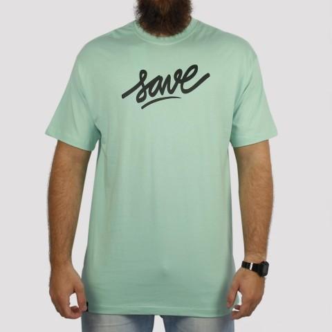 Camiseta Save Logo - Verde Claro