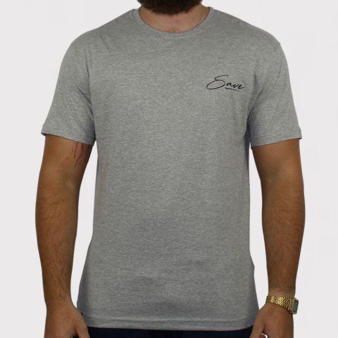 Camiseta Save Mona - Cinza Mescla