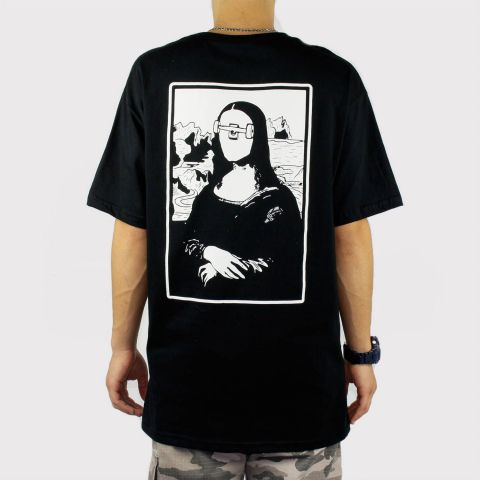 Camiseta Save Mona - Preta/Branco