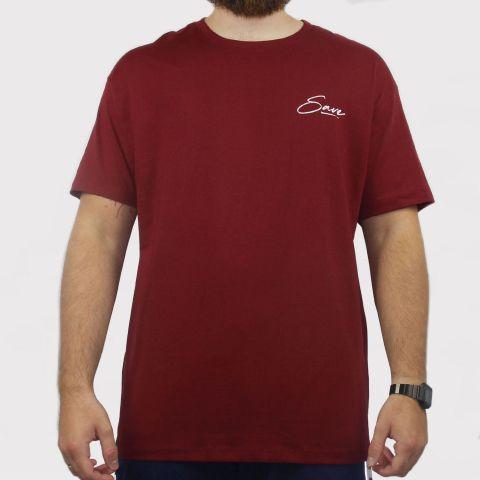 Camiseta Save Mona - Vinho