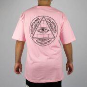 Camiseta Save Skateboard Triângulo Rosa