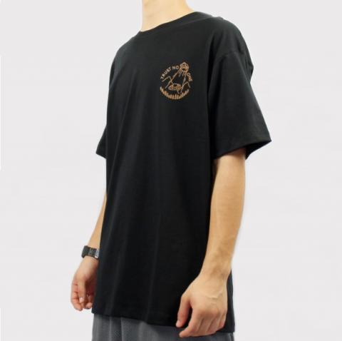 Camiseta Save Trust No One - Preto/Marrom