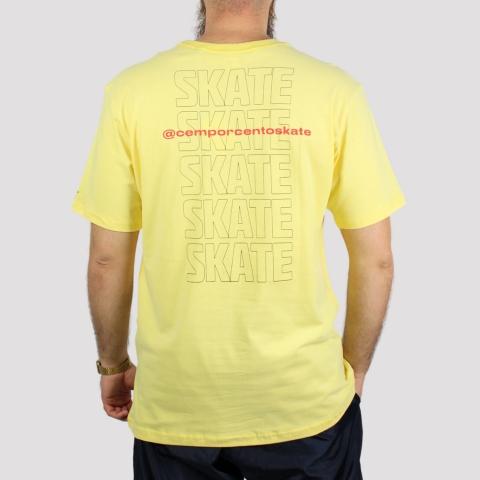 Camiseta Starter 100% Skate - Amarelo