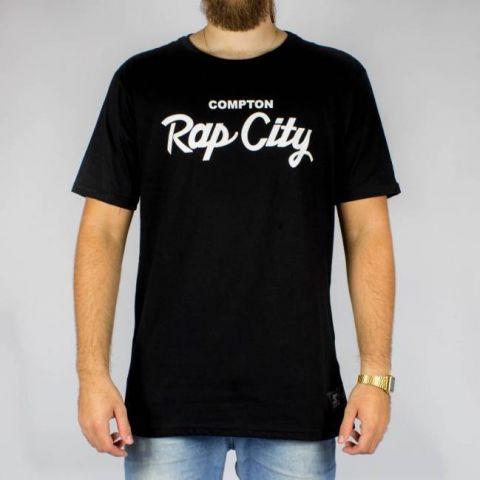 Camiseta Starter Compton - Preta/Branco
