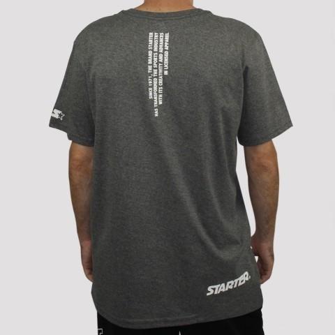 Camiseta Starter Logo - Mescla Cinza