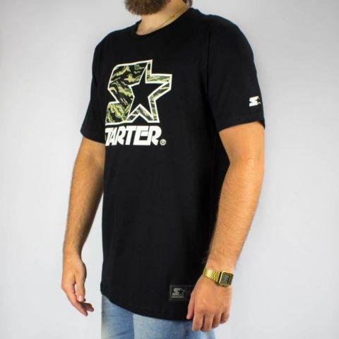 Camiseta Starter - Preta/Camuflada