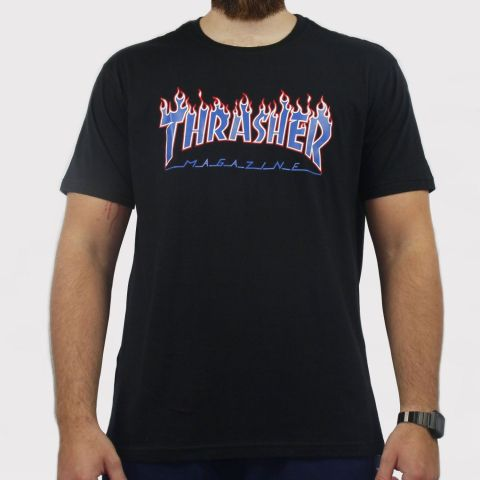 Camiseta Thasher Patriot - Preto