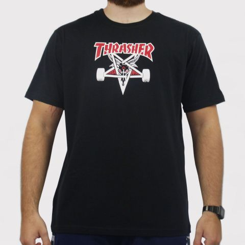 Camiseta Thasher Two tone skt - Preto