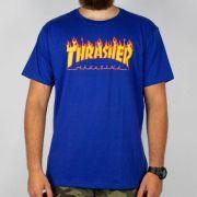 Camiseta Thrasher Flame Logo - Azul royal