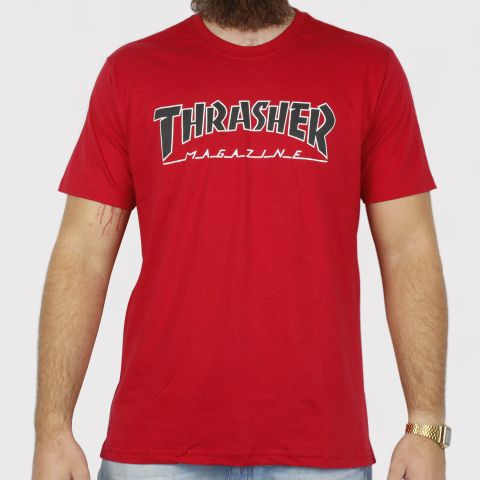Camiseta Thrasher Outline - Vermelha