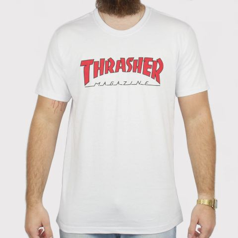 Camiseta Thrasher Outlined - Branca