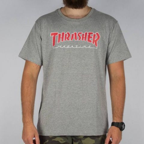 Camiseta Thrasher Outlined - Cinza