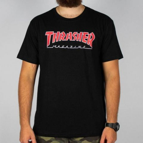 Camiseta Thrasher Outlined - Preta