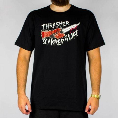 Camiseta Thrasher Scarred - Preta