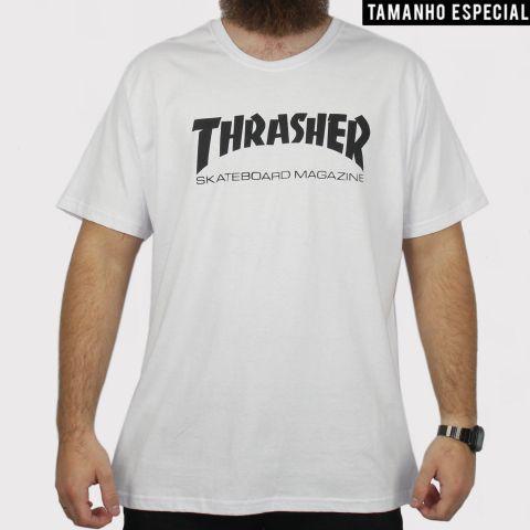 Camiseta Thrasher Skate Mag - Branca (Tamanho Especial)