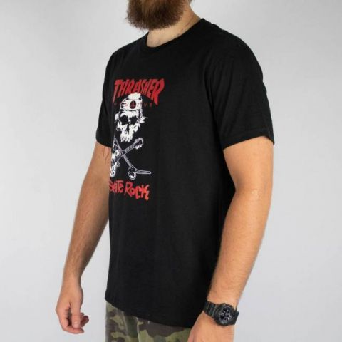 Camiseta Thrasher Skate Rock Preta