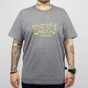 Camiseta Urgh Silk Fire - Cinza Mescla/Amarela