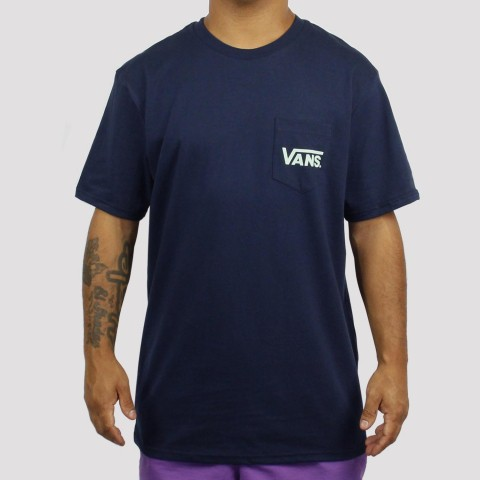 Camiseta Vans Classic Bolso Dress - Blues