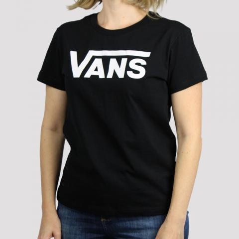 Camiseta Vans Feminina Flying V Crew - Preto