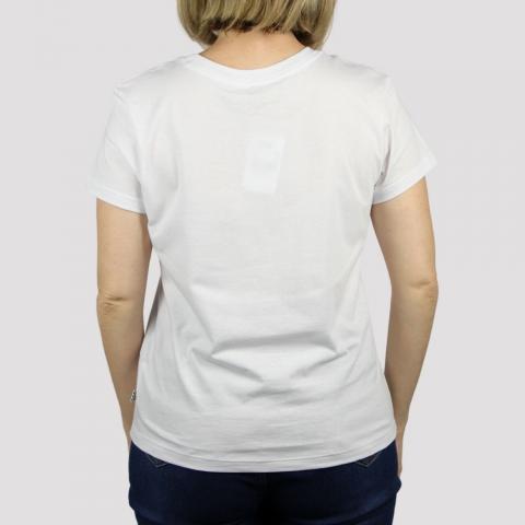 Camiseta Vans Feminina Flying V Crew - White