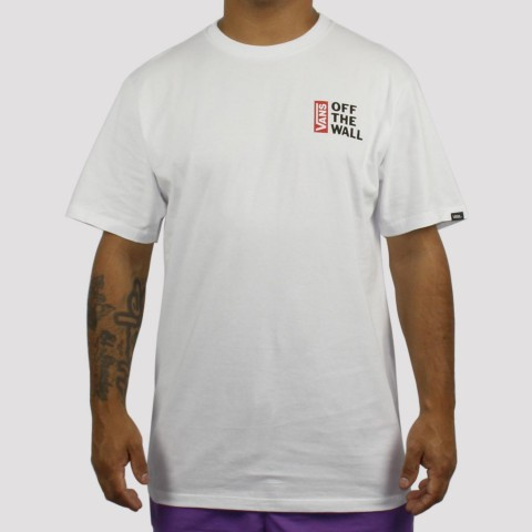 Camiseta Vans Off The Wall - Branca