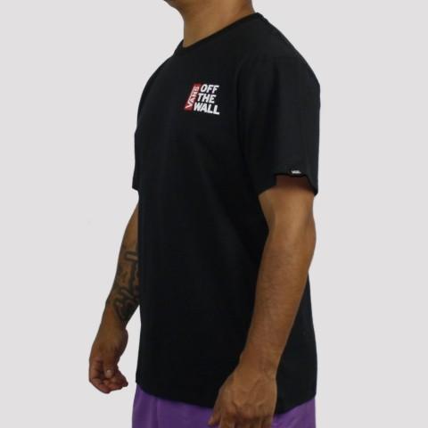 Camiseta Vans Off The Wall - Preta