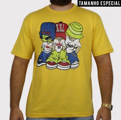 Camiseta XXL Allien - Amarela (Tamanho especial)