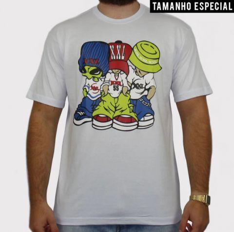 Camiseta XXL Allien - Branca (Tamnho especial)