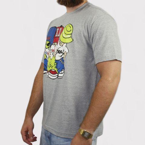 Camiseta XXL Allien - Cinza (Tamanho especial)