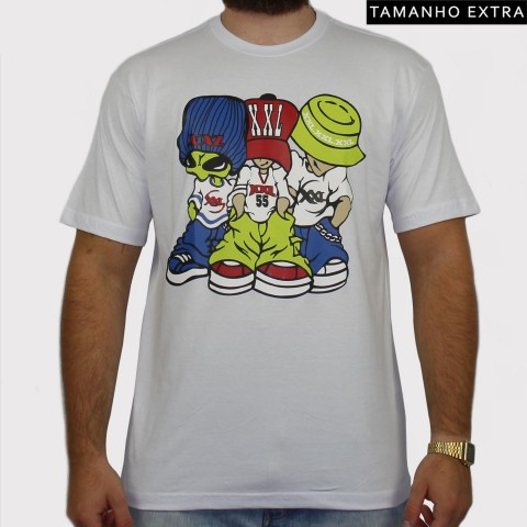 Camiseta XXL Allien (Tamanho Extra) - Branca