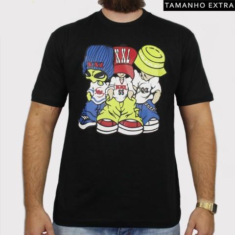 Camiseta XXL Allien (Tamanho Extra) - Preta