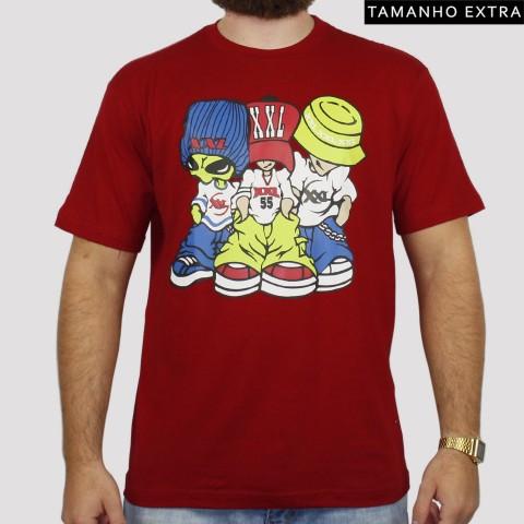 Camiseta XXL Allien (Tamanho Extra) - Vinho