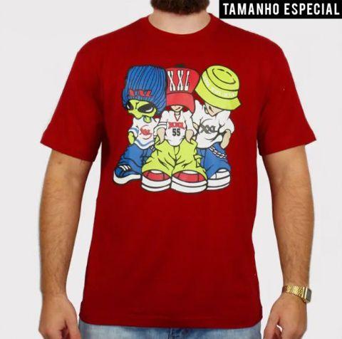 Camiseta XXL Allien - Vinho (Tamanho especial)