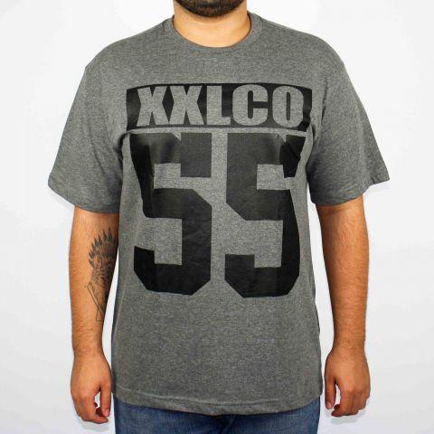 Camiseta XXL Logo CO 55 - Cinza Escura/Preto