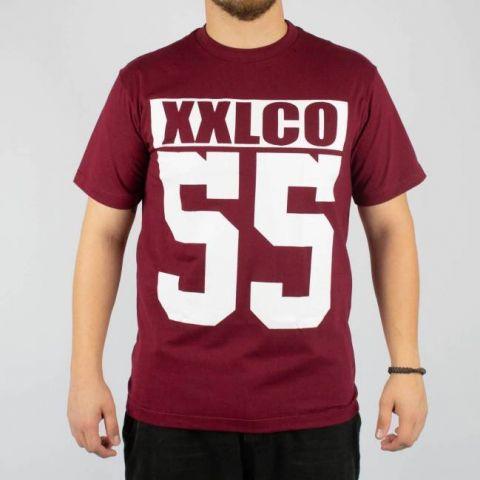Camiseta XXL Co. 55 - Vinho/Branco