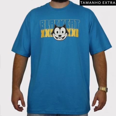 Camiseta XXL Gato Felix (Tamanho Extra) - Azul