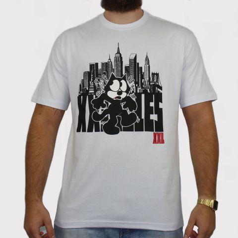 Camiseta XXL Gato Felix - Branca